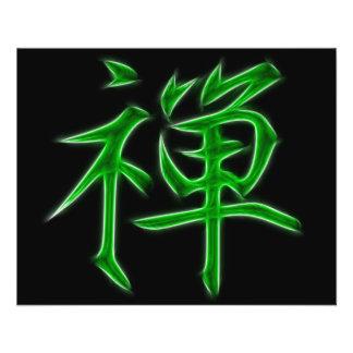 Zen Japanese Kanji Calligraphy Symbol Flyer
