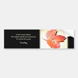 Zen Maple Poem & Art Bumper Sticker