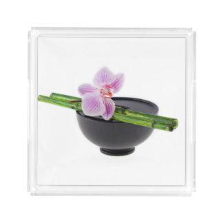 Zen orchid acrylic tray