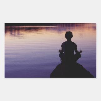 Zen peace yoga stillness meditation nature stickers