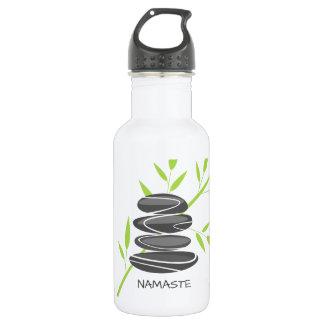 Zen pebble stones stacking water bottle drinkware
