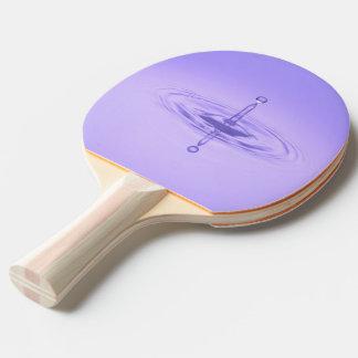 Zen Purple Water Drop Ocean Love Peace Inspiration Ping Pong Paddle