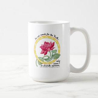 Zen quote and lotus coffee mug