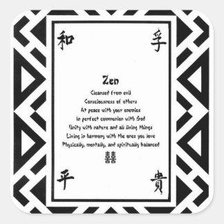 Zen Square Sticker