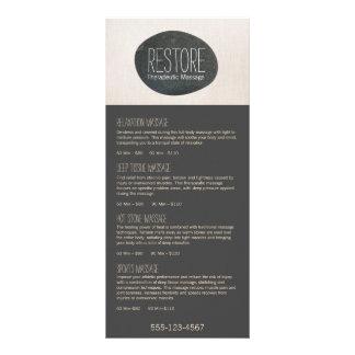Zen Stone Massage Therapist Service Spa Menu
