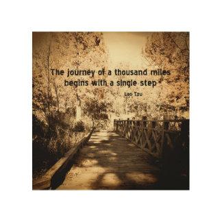 zen text wood wall art motivational quote