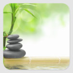 Zen tranquillity water garden by healing love square stickers