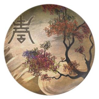 Zen Tree Decorative Plate