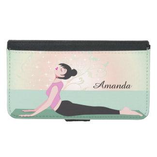Zen Yoga Woman and Monogram Name - Galaxy S5 Samsung Galaxy S5 Wallet Case