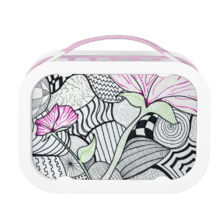 Zentangled in Pink Lunch Box