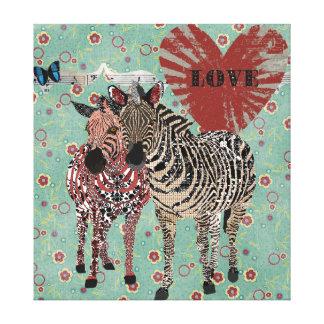 Zenya & Zeb Love Canvas Stretched Canvas Prints