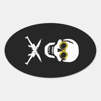 Zeppelin Pirate Oval Sticker