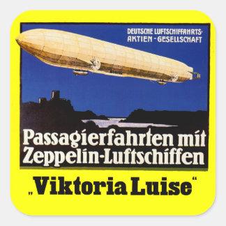 Zeppelin Viktoria Luise Square Sticker
