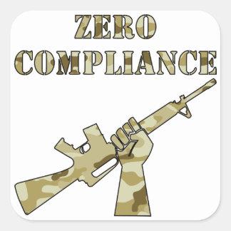 Zero Compliance AR15 Camo Square Sticker