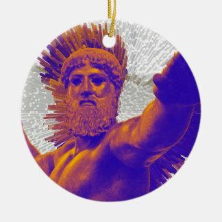 Zeus  - Jupiter Round Ceramic Decoration