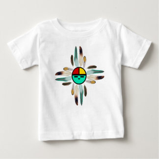 Zia Sun God with Feathers Baby T-Shirt