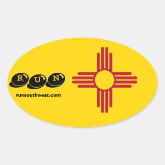 Zia Symbol Running Sticker