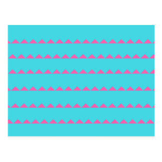 Zig Zag Blue and Pink Laptop Desk Postcard