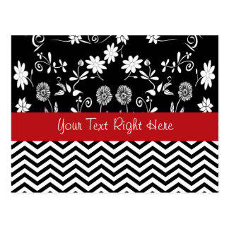 Zig-Zag Fashion Flair Postcard