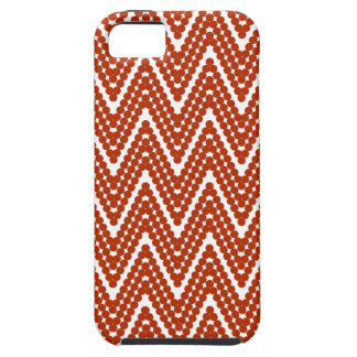 ZIGZAG  DOTS _24  TANGERINE CASE FOR THE iPhone 5