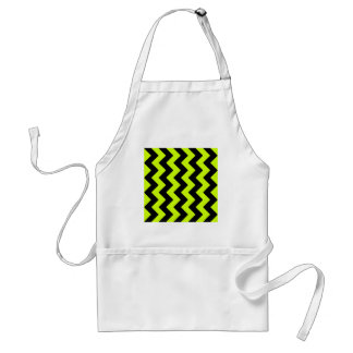 Zigzag I - Black and Fluorescent Yellow Standard Apron