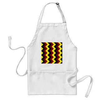 Zigzag I - Black, Dark Red and Yellow Standard Apron