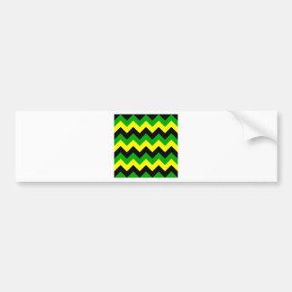 Zigzag I - Black, Yellow and Green Bumper Sticker
