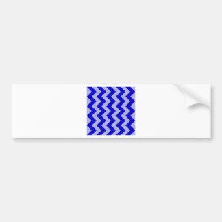 Zigzag I - Blue and Violet Bumper Sticker