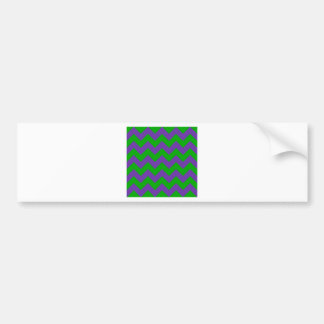 Zigzag I - Green and Violet Bumper Sticker