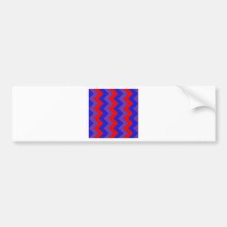 Zigzag I - Red, Blue, Violet Bumper Sticker