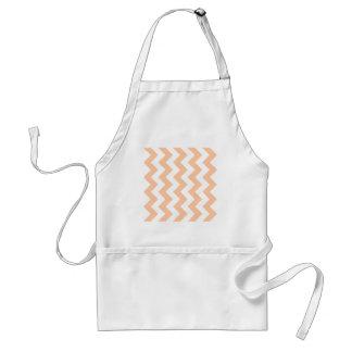 Zigzag I - White and Deep Peach Standard Apron