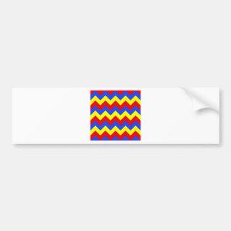 Zigzag I - Yellow, Blue, Red Bumper Sticker