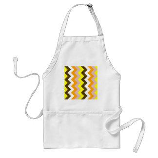 Zigzag I - Yellow, Pink, Orange, White, Brown Standard Apron