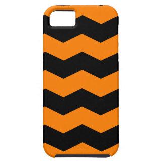 Zigzag II - Black and Orange Case For The iPhone 5