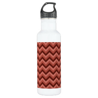 Zigzag Pattern in Cool Shades of Red 710 Ml Water Bottle