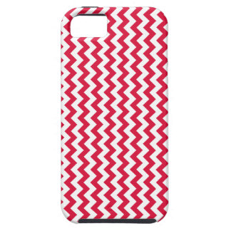 Zigzag Wide  - White and Crimson iPhone 5 Covers