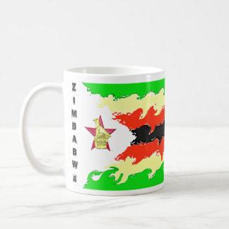 Zimbabwe flag basic white mug