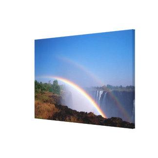 Zimbabwe, Victoria Falls National Park. Double Canvas Print