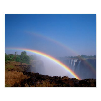 Zimbabwe, Victoria Falls National Park. Double Poster
