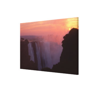 Zimbabwe, Victoria Falls National Park. Misty Canvas Print