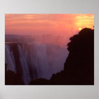 Zimbabwe, Victoria Falls National Park. Misty Poster