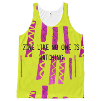 Zing All-Over Print Singlet