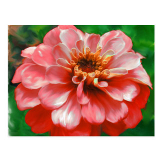 Zinnia Flower Painting Postcard