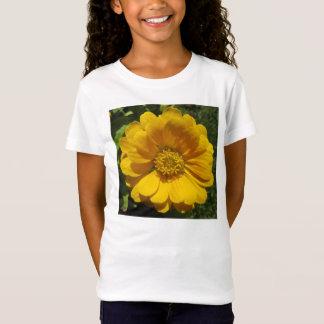 Zinnia Golden Sunlit Flower T-Shirt