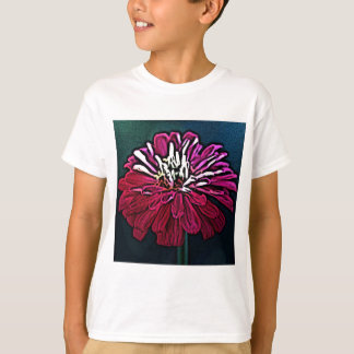 Zinnia Woodcut T-Shirt