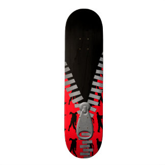 Zipped Up Zombies Everywhere Skate Deck