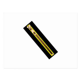 Zipper Black Yellow Copper 40FV The MUSEUM Zazzle Post Cards