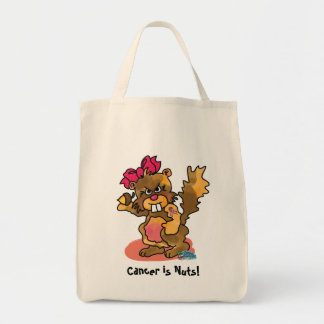 ZMP Cancer is Nuts! Grocery Tote Bag