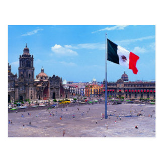 Zocalo, Mexico City, Mexico Postcard