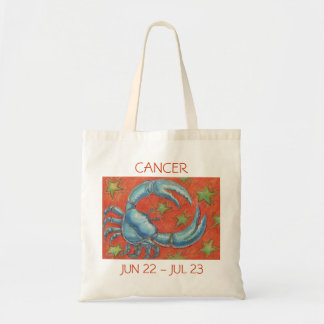 Zodiac Cancer tote bag text